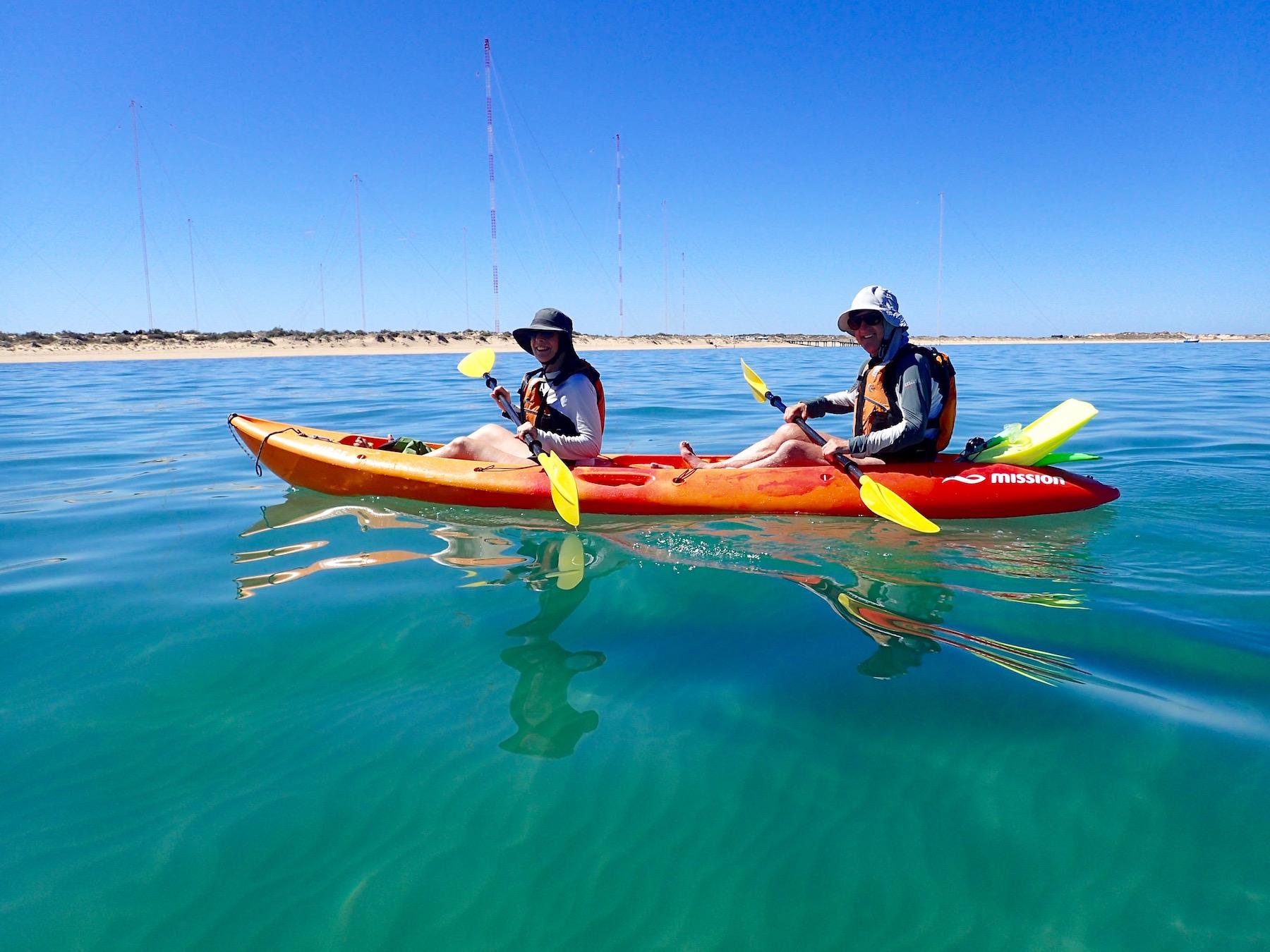 Arvo Cruiser, sea kayak, snorkel, eco tour, Exmouth Adventure Co, Exmouth, Western Australia, Ningaloo Reef, coral coast
