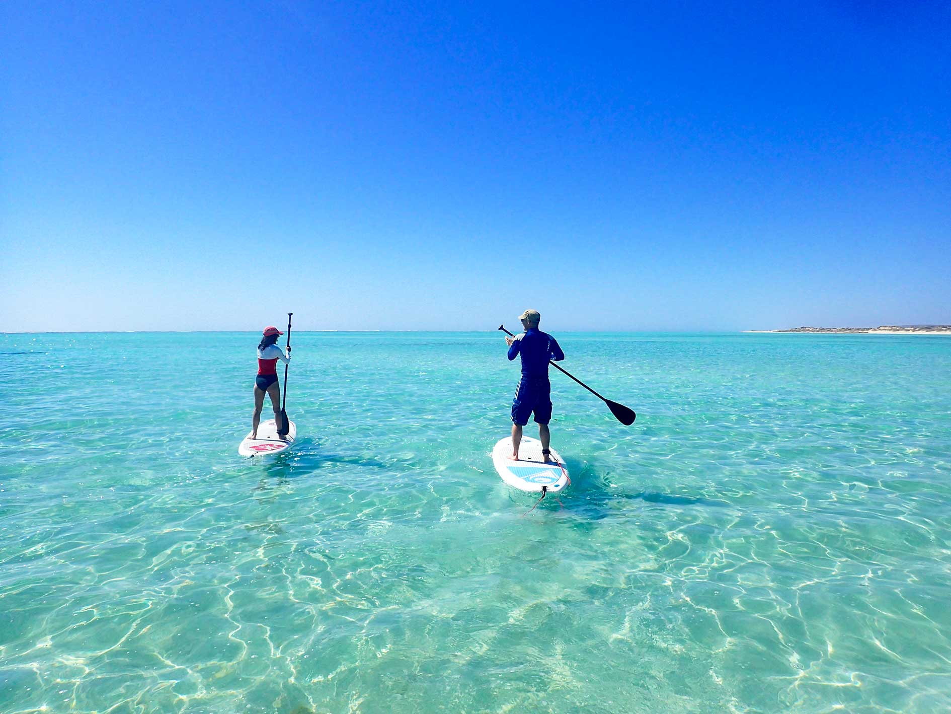 Stand up paddle board SUP hire from Exmouth, Ningaloo Reef