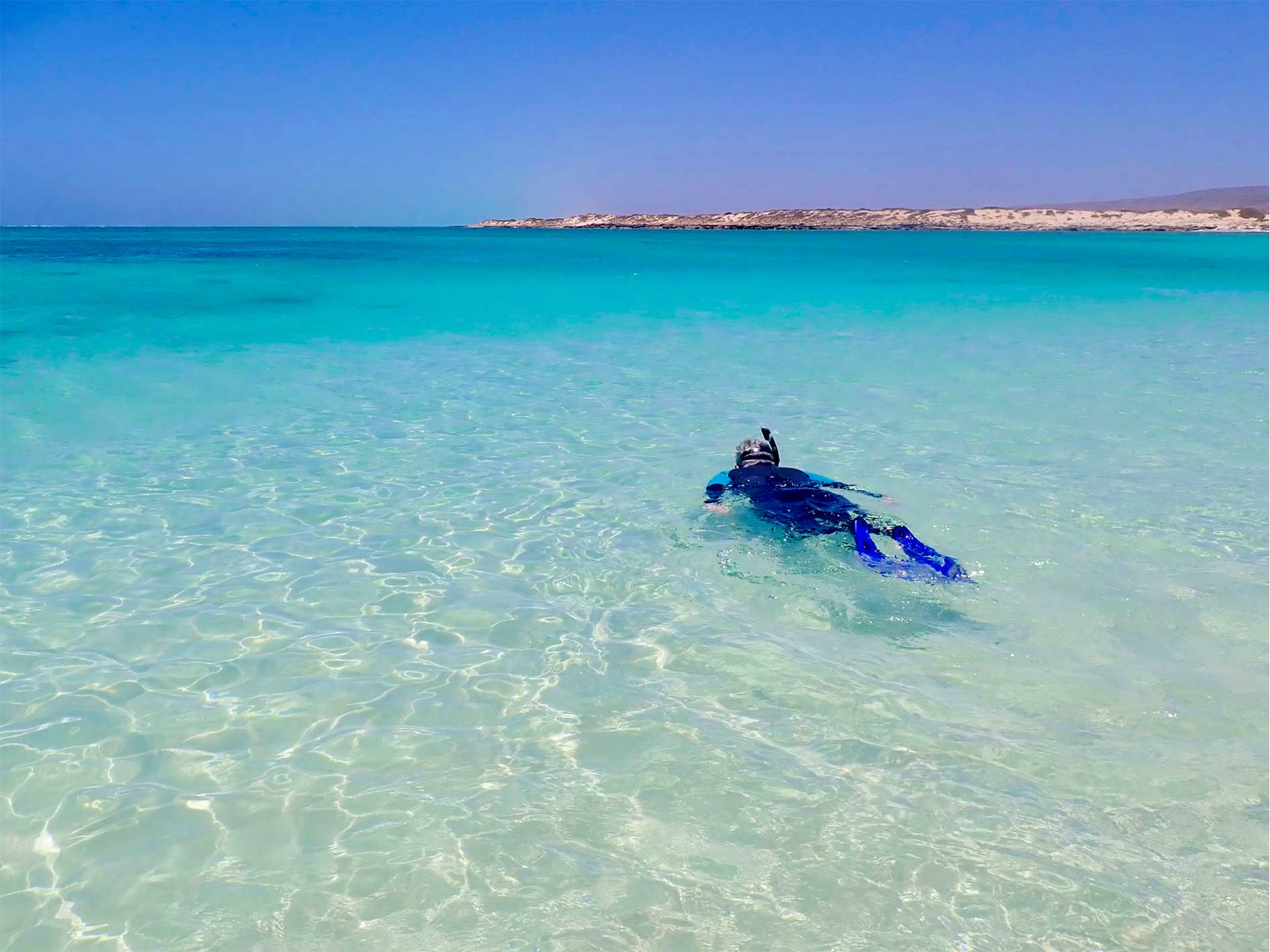 Guided snorkel, Turquoise Bay